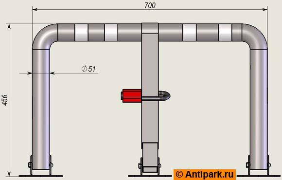 Крепится...  Другие типы парковочных барьеров Вы можете найти в. Барьер антипарковочный нержавеющий АБН-1.